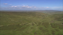 AERIAL United Kingdom-Great Shunner Fell Stock Footage
