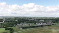 AERIAL Denmark-Billund Airport Stock Footage