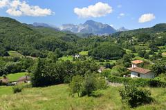 Stock Photo of Landscape in the Apuan Alps near San Michele Garfagnana Province of Lucca