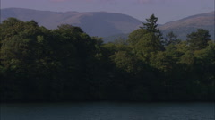AERIAL United Kingdom-Belle Isle On Lake Windermere - stock footage