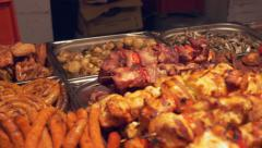 Meat Specialities Trays Stock Footage