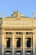Burgtheater in the evening light Inner City Vienna Austria Europe Stock Photos