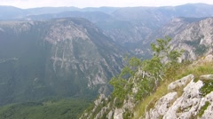 Limestone mountains landscape Stock Footage