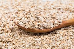 Whole grain, rolled oats Stock Photos