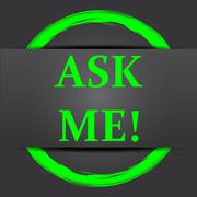 Ask me icon. Internet button with green on grey background.. Stock Illustration