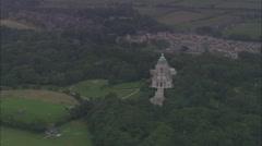 AERIAL United Kingdom-Ashton Memorial, Lancaster Stock Footage