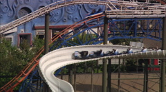 AERIAL United Kingdom-Pleasure Beach Fun Fair Blackpool Stock Footage