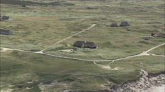 AERIAL Denmark-Summer Houses On Skagen Peninsular Stock Footage