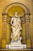 Statue of Bartholomew the Apostle at the Church of the Assumption Rotunda of - stock photo