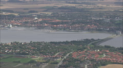 AERIAL Denmark-Bremdal And Struer Stock Footage
