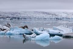 Stock Photo of Ice icebergs Jokulsarlon glacial lake lagoon Iceland Europe