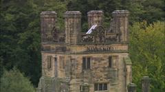 AERIAL United Kingdom-Gawthorpe Hall Stock Footage