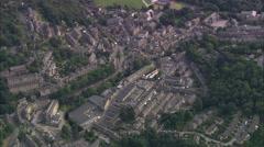 AERIAL United Kingdom-Hebden Bridge Stock Footage