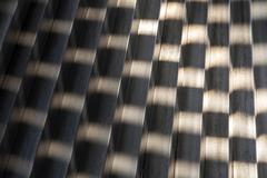 Structures in a metal element - stock photo