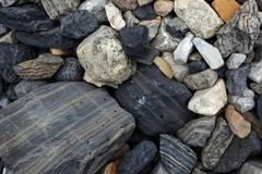 Stock Photo of Patterned stones Banff National Park Alberta Province Canada North America