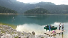 Black Lake in Durmitor Mountains Stock Footage