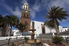 Stock Photo of Plaza de la Constitution with the Iglesia de Nuestra Senora de Guadalupe