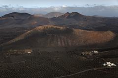 View from the Montana de Guardilama range northwest on the wine growing region - stock photo