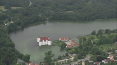 AERIAL Germany-Glucksburg Slot (Danish Royal House Now In Germany) Stock Footage