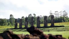 Easter Island Statues 26 HD - stock footage