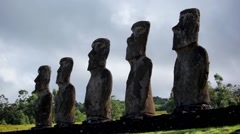 Easter Island Statues 28 HD Stock Footage