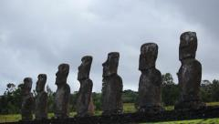 Easter Island Statues 29 HD - stock footage