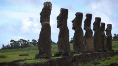 Easter Island Statues 30 HD - stock footage