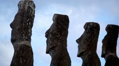 Easter Island Statues 31 HD Stock Footage