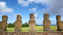 Easter Island Statues 32 HD 1 Stock Footage