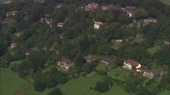 AERIAL United Kingdom-Alderley Edge Stock Footage