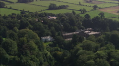 AERIAL United Kingdom-Quarry Bank Mill Stock Footage