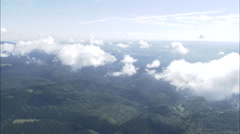 AERIAL Germany-Harz Mountains And Clouds Stock Footage