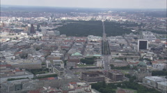 AERIAL Germany-Communications Tower Stock Footage