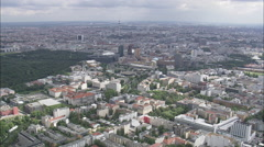 AERIAL Germany-Sony Centre Stock Footage
