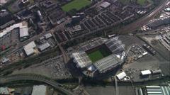 AERIAL United Kingdom-Manchester United Fc Stock Footage