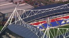AERIAL United Kingdom-Bolton Wanderers Fc Stock Footage