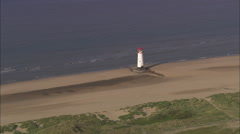 AERIAL United Kingdom-Point Of Ayr Stock Footage