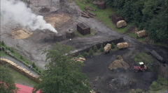 AERIAL Germany-Charcoal Burning Neat Altenbrak Stock Footage