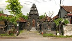 Balinese temple, Pura Dalem Pejarakan Ulun Lencana, parallax shot Stock Footage