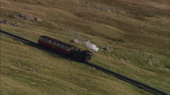 AERIAL United Kingdom-Snowdon Railway Stock Footage