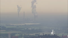 AERIAL Germany-Heavy Industry Around Duisburg Stock Footage