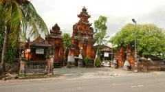 Hindu Temple, Pura Kahyangan Dalem Penataran Agung Umadui Stock Footage