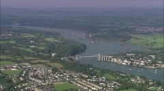 AERIAL United Kingdom-Bangor Stock Footage