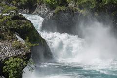 Waterfall of the Rio Petrohue Parc Nacional Vicente Perez Rosales Puerto Varas Stock Photos