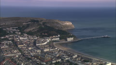 AERIAL United Kingdom-Llandudno Stock Footage