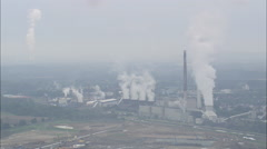 AERIAL Germany-Power Station At Hagem Stock Footage