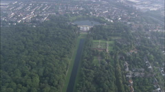 AERIAL Germany-Benrath Palace Stock Footage