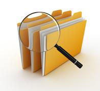 Searching file - stock illustration
