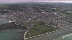 AERIAL United Kingdom-Aberystwyth Stock Footage