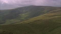 AERIAL United Kingdom-Preseli Mountains Stock Footage